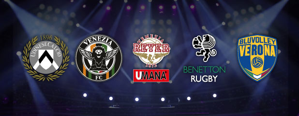 Radio Piterpan Media Partner - Udinese Calcio - Venezia FC - Umana Reyer Basket - Benetton Rugby - BluVolley Verona